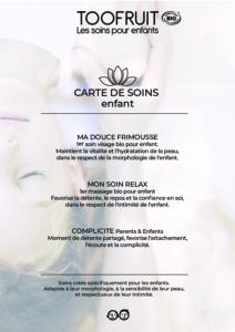 CARTE DE SOINS pdf-toofruit