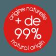 + de 99% d'origine naturelle