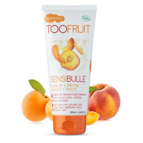 gelee douche bio enfants abricot peche 2-toofruit