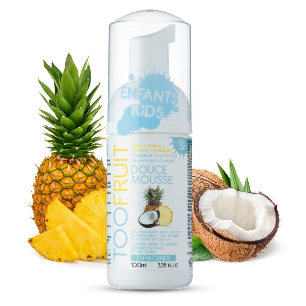 mousse nettoyante bio enfants ananas coco-toofruit