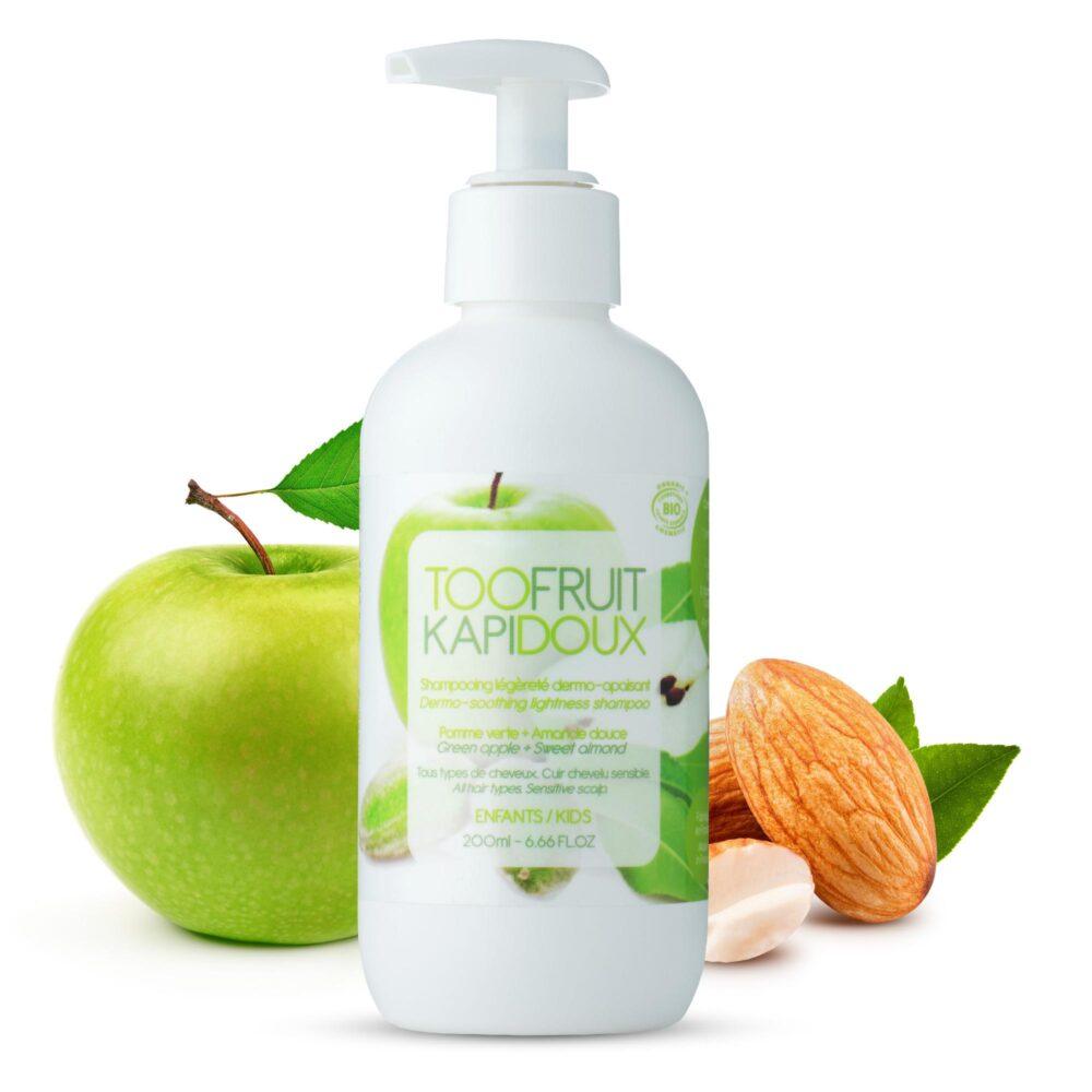 shampooing bio enfants pomme amande-toofruit
